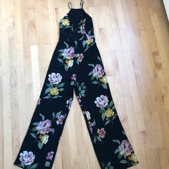 Urban Outfitters Pants - NWT Urban Outfitters black floral jumpsuit